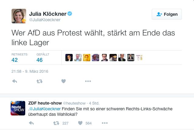 Quelle: Twitter (Julia Klöckner)